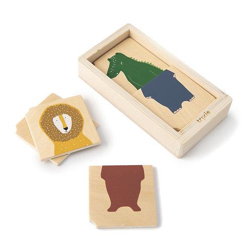 Puzzle animaux combo en bois Trixie