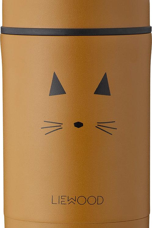 Liewood Grand Pot Alimentaire Cat Mustard