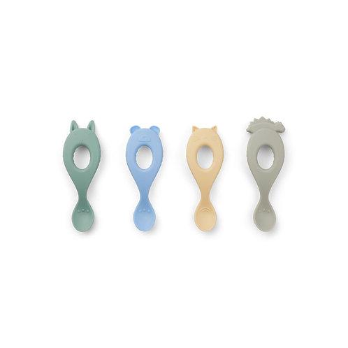 Set de 4 cuillères en silicone Liva