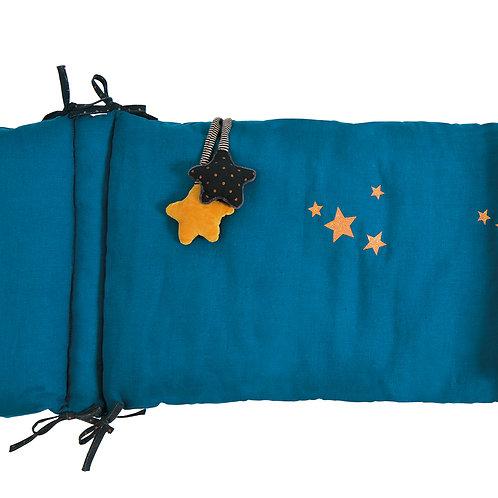 Tour de lit bleu Les moustaches - Moulin Roty- Liste Roche - Kain