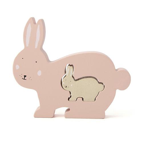 Puzzle bébé en bois - Mrs. Rabbit - Trixie