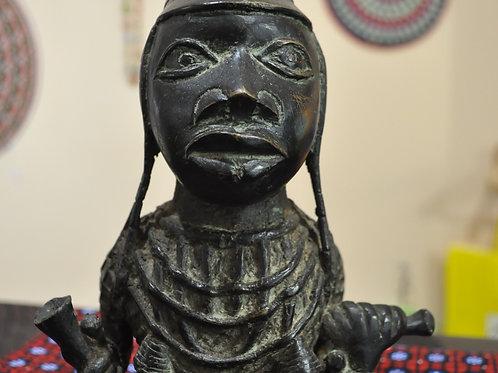 Benin Bronze Half Body - Lô Ethnic Group - Benin City - Nigeria