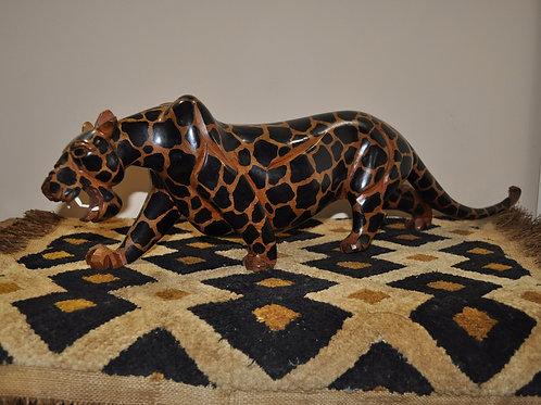 Teak Wood Leopard