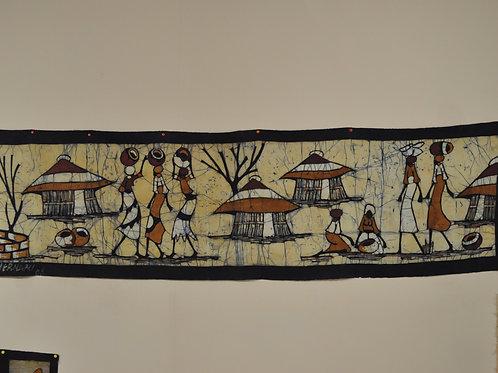 Batik Mozambique - 50x185 cm. - Maconde Tribe