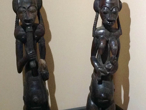 Wooden baule couple
