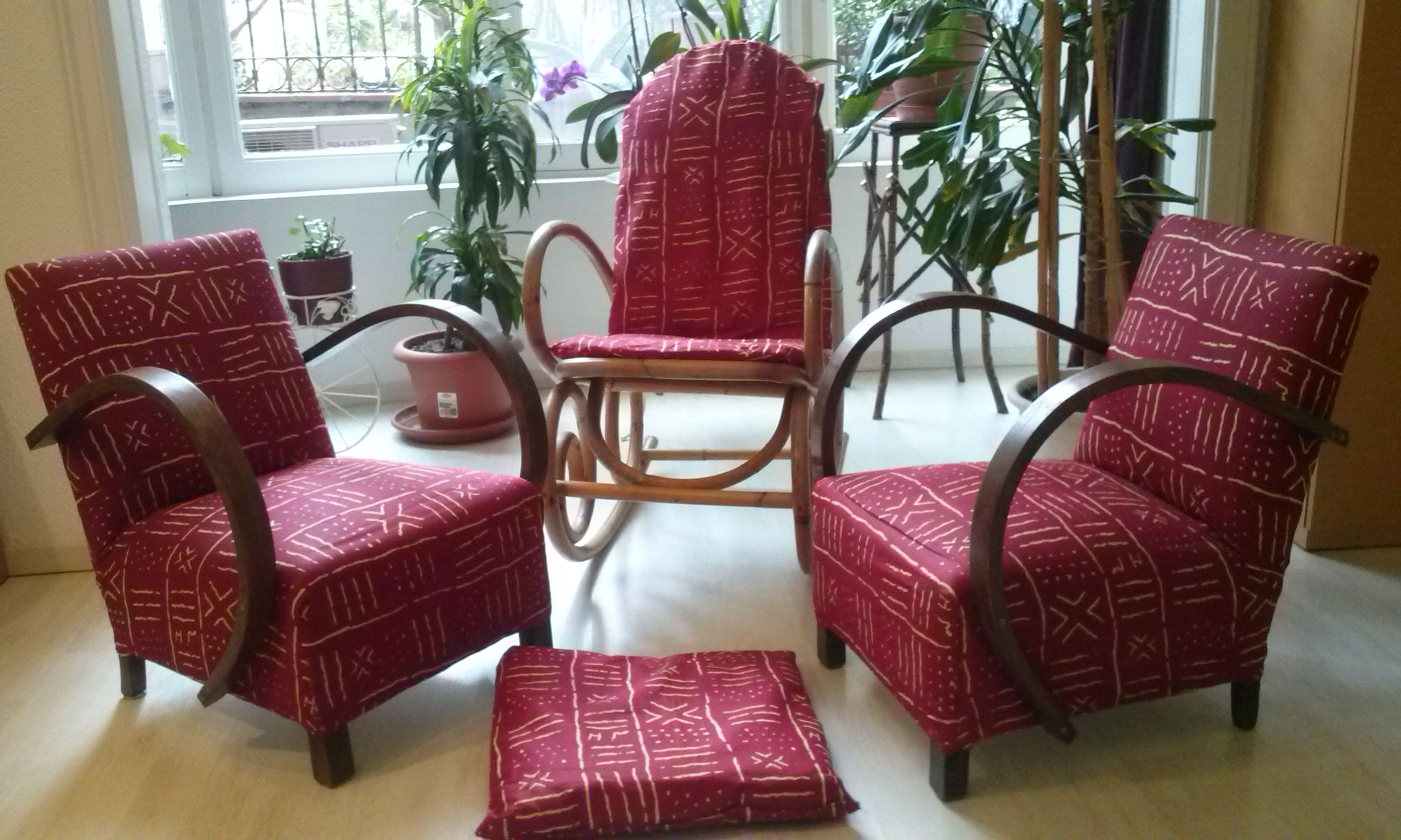 Upholstery with African textiles