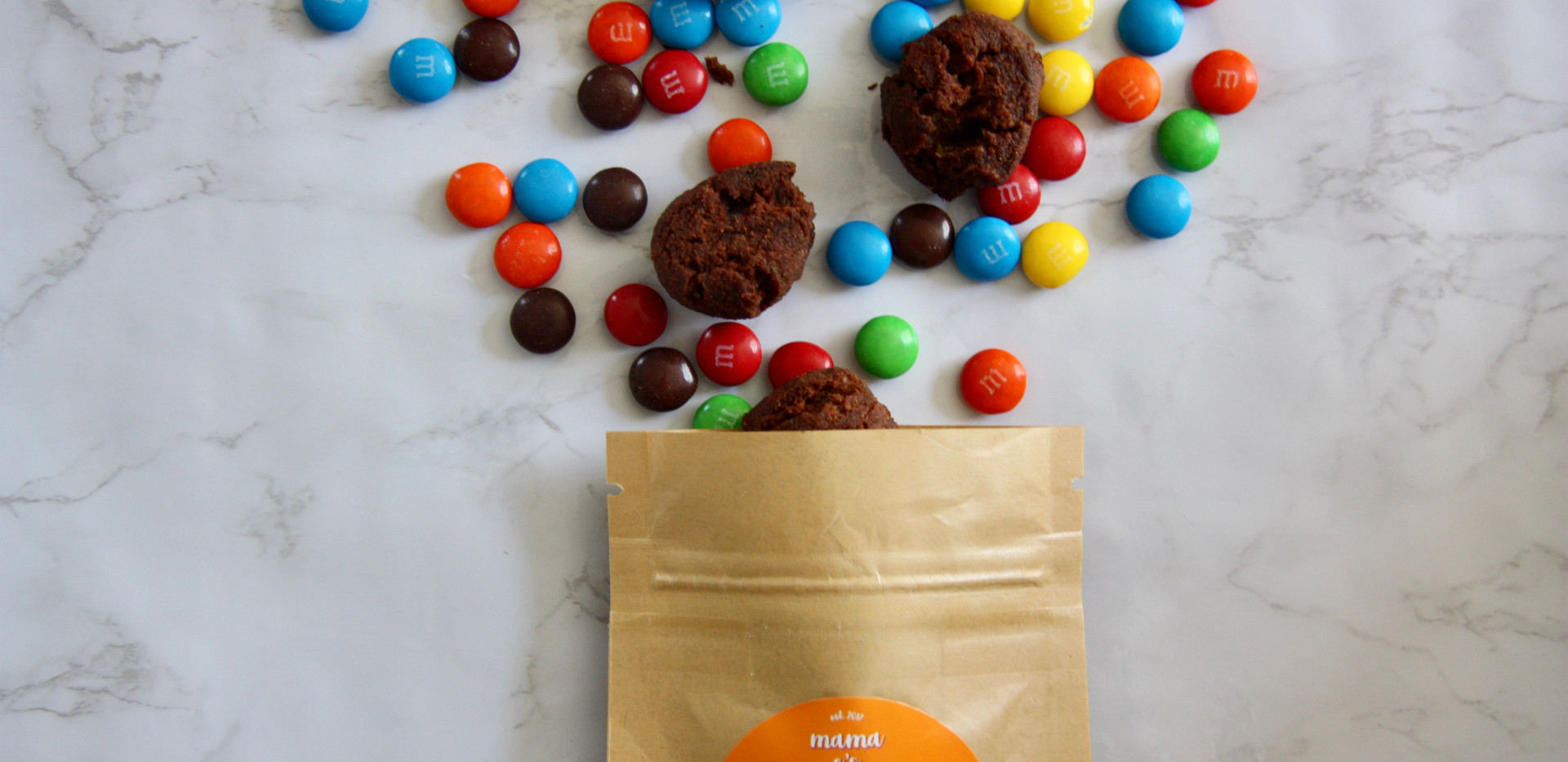 Double Chocolate M&M Cookie Bites