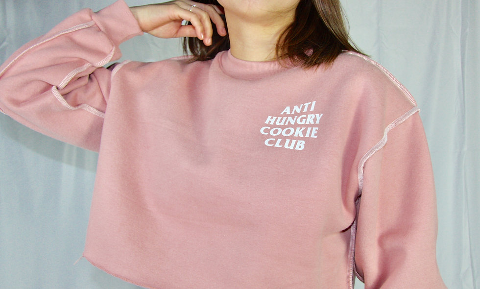 Anti Hungry Cookie Club Crop Top Sweatshirt