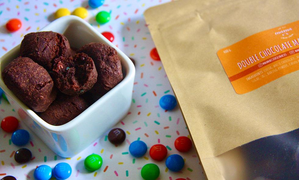 Double Chocolate M&M Cookie Bites
