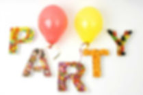party food and baloons
