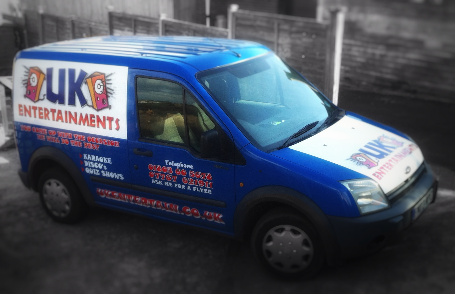 UK Entertainments work van