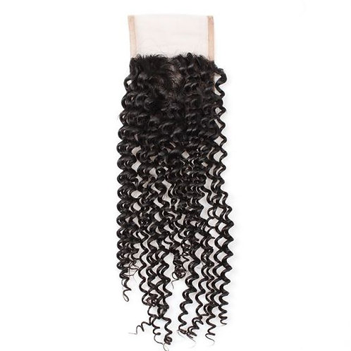 Brazilian Jerry Curl Lace Closure