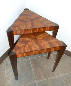 Red Chile Nesting Triangle Table Pair