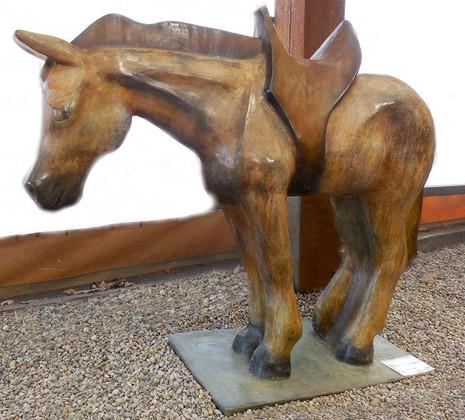 Large Western Horse with Saddle