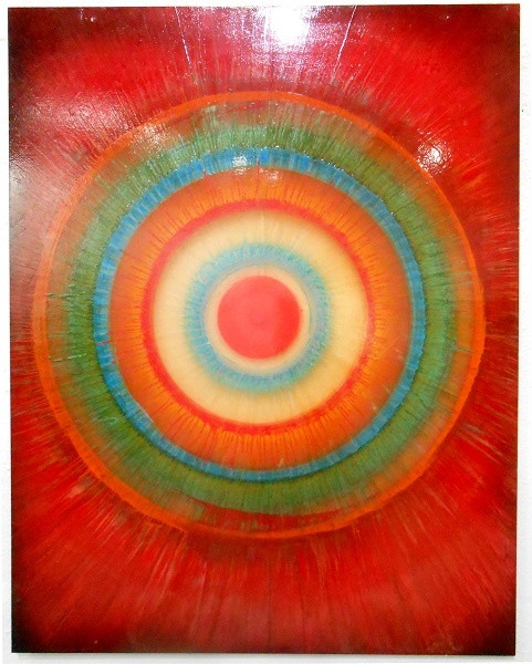 45 x 35 Enamel on Plexi-Glass (Red)