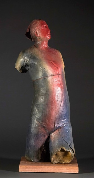 Torso in Red and Blue
