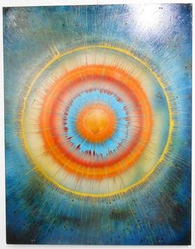 45 x 35 Enamel on Plexi-Glass (Blue)