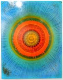 45 x 35 Enamel on Plexi-Glass (Green)