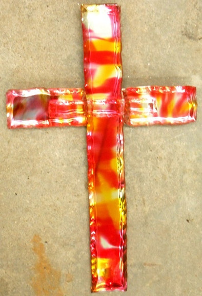 Glass Cross (Red, Yellow & Clear)