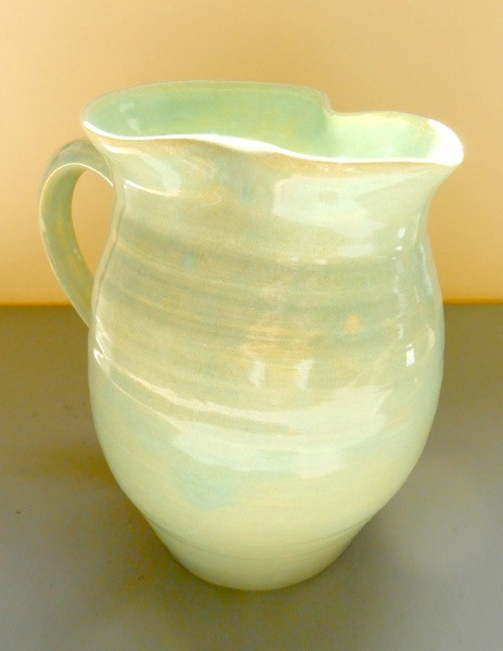 Celadon Glaze Pitcher (White)