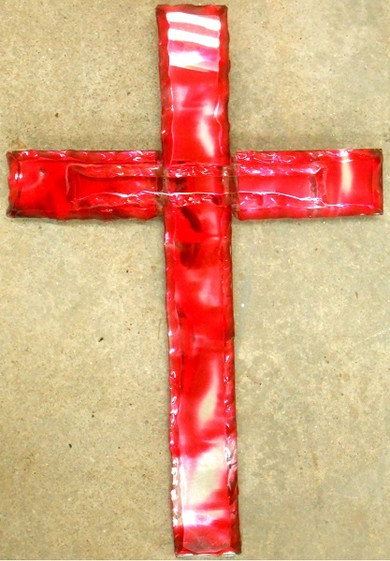 Glass Cross (Red)