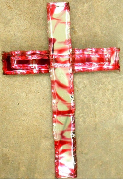 Glass Cross (Red & Clear)