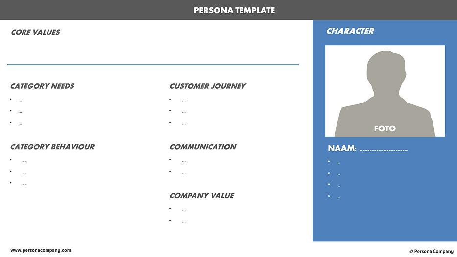 Buyer Persona Template - Persona Company