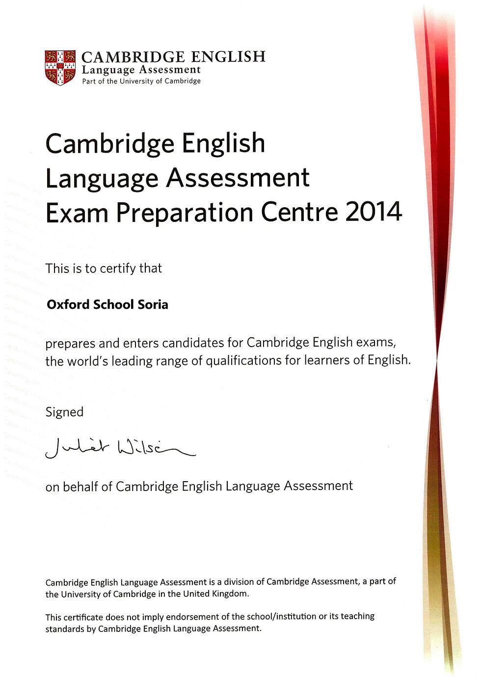 Centro preparadoe examenes Cambridge