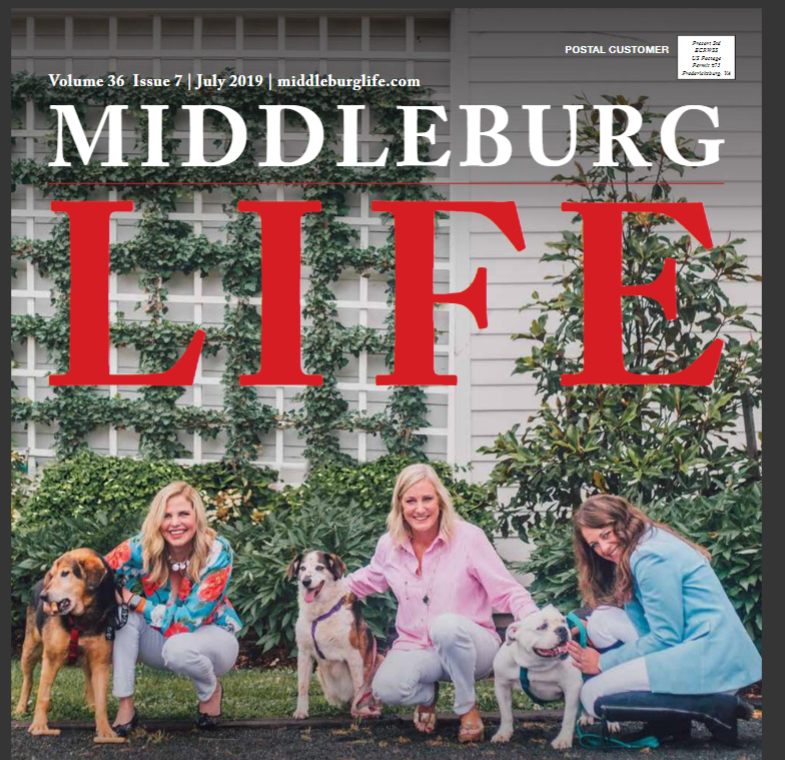 MarsGMI and Middleburg Humane on Middleburg Life July Cover