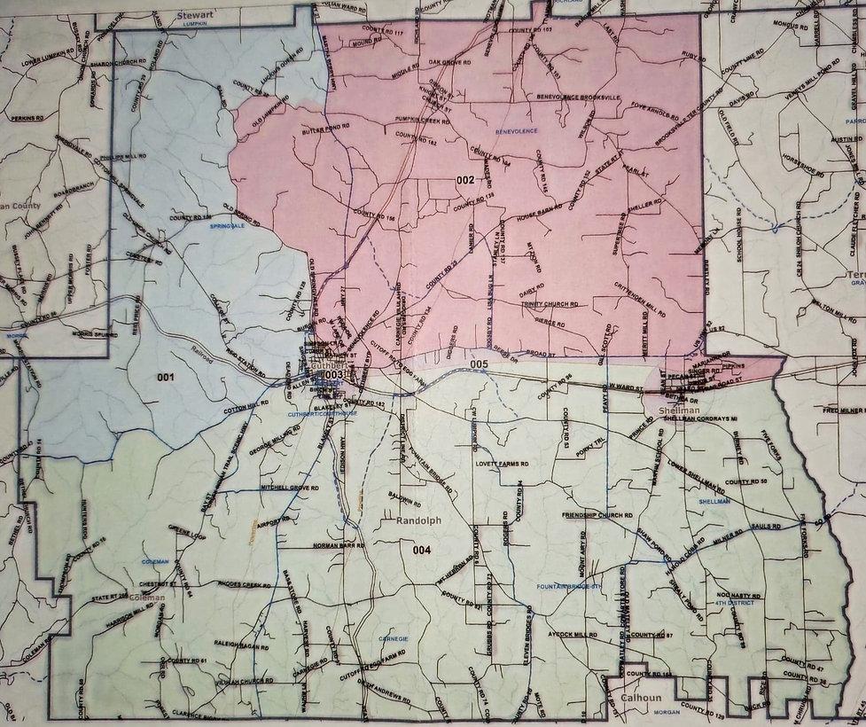 District Map Randolph County, GA