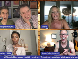 #369 AIDAReunion with Tyrees Allen, Heather Headley, John Hickock, Sherie Rene Scott, Dan Oreskes, Adam Pascal and Schele Williams. Donations tonight will be matched up to $3,000 by Rach Ireland!