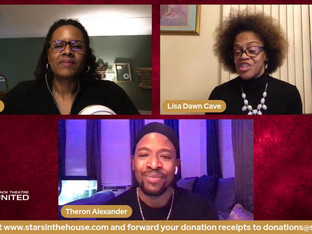 """#300 Black Theatre United's """"Behind the Scenes: Up Front"""" with co-hosts Carin Ford and Lisa Dawn Cave joined by Theron Alexander (Stage Manager), Anthony Jones (Head Sound Engineer), Mia Neal (Hair Designer) and Kendra Moore (Company Manager)"""