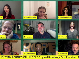 #212 25th ANNUAL PUTNAM COUNTY SPELLING BEE Original Broadway Cast Reunion with Derrick Baskin, Deborah S. Craig, Jesse Tyler Ferguson, Dan Fogler, Lisa Howard, Celia Keenan-Bolger, Jose Llana, Jay Reiss and Sarah Saltzberg.