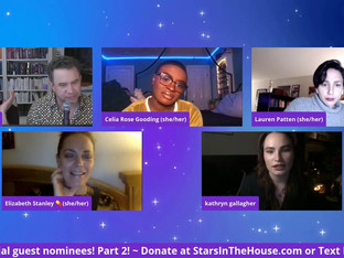 #224 Celebrating the 2020 Tony Awards with special guest nominees - Part 2:  featuring Blair Underwood, Elizabeth Stanley, Kathryn Gallagher, Lauren Patten, Celia Rose Gooding, Sonya Tayeh and Peter Hylenski.