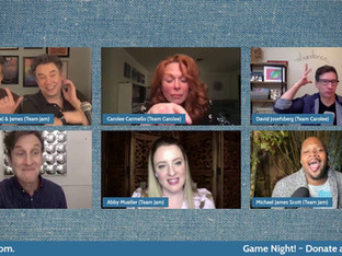 #316 Game Night with Carolee Carmello, David Josefsburg, Abby Mueller and Michael James Scott.  Donations tonight will be matched up to $1,500!  ​