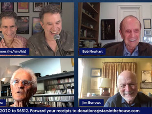 """#350 Bob Newhart & Friends. Celebrating Bob Newhart with cast members from """"The Bob Newhart Show"""" and """"Newhart"""" with Bob Newhart, Peter Bonerz, Jim Burrows, Julia Duffy, Tony Papenfuss, John Voldstad and William Sanderson.   """