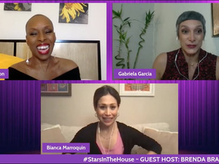 #375 Chicago/In The Heights and Beyond with guest host Brenda Braxton joined by Bianca Marroquin and Gabriela Garcia.