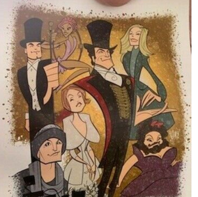 SOLD: Squigs Greatest Showman Print from Keala Settle