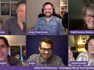#302 Changing Minds from Bullets to Books: A Documentary with Andy Truschinski, Gail Prensky, Augie Haas, Jessie Mueller, Sean MacLaughlin and Barbara Baekgaard