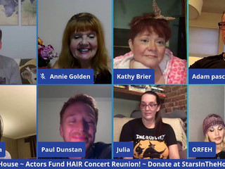 #228 It's a Reunion!  Join Seth and James as the cast of the Actors Fund HAIR concert reunite with Julia Murney, Adam Pascal, Lillias White, Annie Golden Ann Harada, Orfeh and Kathy Brier.