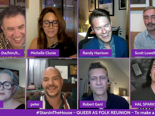 #379 QUEER AS FOLK TV Reunion with Michelle Clunie, Robert Gant, Sharon Gless, Randy Harrison, Scott Lowell, Peter Paige and Hal Sparks.