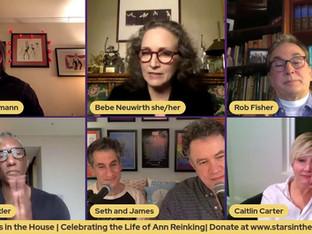 #293 Ann Reinking Celebration with Bebe Neuwirth, Rick Elice, Rob Fisher, Greg Butler, Maria DiDia, Caitlin Carter, Jim Borstleman, William Whitener