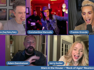 #333 Rock of Ages Reunion with Kerry Butler, Constantine Maroulis, Adam Dannheisser and Frankie Grande   