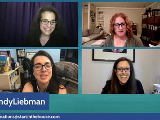 """#355 Guest host Jessica Kirson from the Hulu hit documentary """"Hysterical,"""" with guests Wendy Leibman, Judy Gold and Carmen Lynch."""