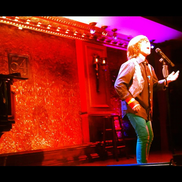 On Stage at 54 Below, NYC