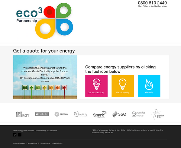 Compare energy suppliers and find the best savings on your energy bills.