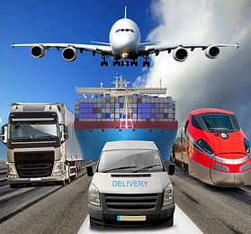 Global transportation airplane ship cars