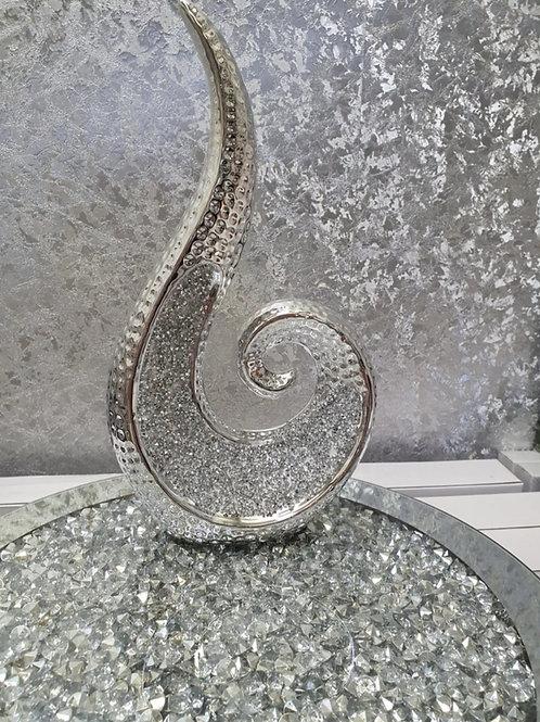 Large Silver Sparkle Sculpture