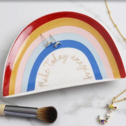 Make Today Amazing Rainbow Trinket Dish
