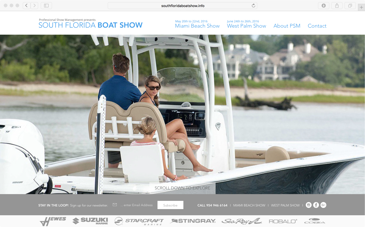 South Florida Boat Show Website